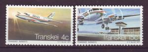 J19044 Jlstamps 1977 so africa-transkel set mnh #22-3 airplanes