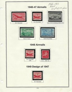 1946-1983 11 ALBUM PAGES OF MNH SINGLES - SCV $51.00+  - W45