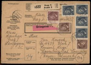 Germany BuM Bohemia Moravia Concentration Camp KL Floessenbuerg Package Ca 79472