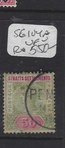 MALAYA STRAITS SETTLEMENTS (P0408B)  QV  50C  SG 104A  VFU