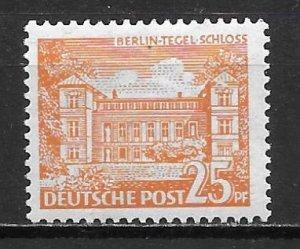 Germany Berlin 9N50 25pf Tegel Castle single Unused LH