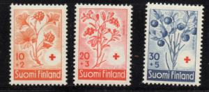 Finland Sc B148-50 1958 Anti TB Flowers stamps mint NH
