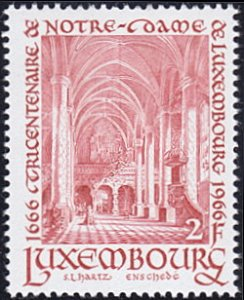 Luxembourg # 437 mnh ~ 2fr Cathedral Interior