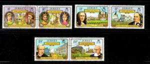Jersey Sc 289-94 1982 France Links stamp set used