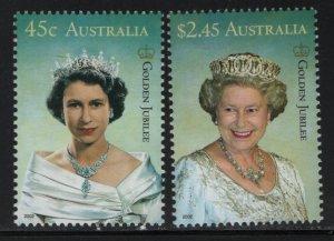 AUSTRALIA, 2031-2032, MNH, 2001, REIGN OF QUEEN ELIZABETH II