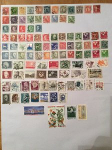 Sweden 100+ stamps - Lot F