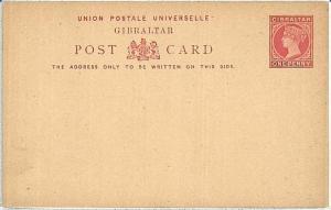 GIBRALTAR -  POSTAL STATIONERY CARD - ONE PENNY