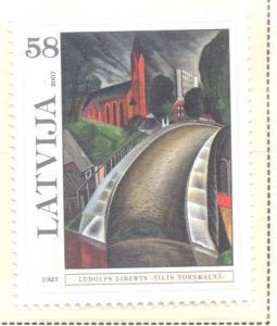 Latvia Sc 673 2007 Liberts Painting stamp  mint NH