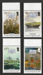Falkland Islands 2017 MNH Falklands Journal 50th Anniversary Set Ships On Stamps