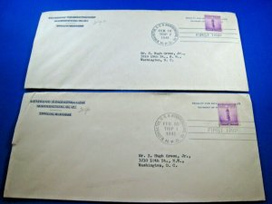 UNITED STATES  -  HIGHWAY POST OFFICE (H.P.O.) CANCELLED - LOT OF 2 COVERS