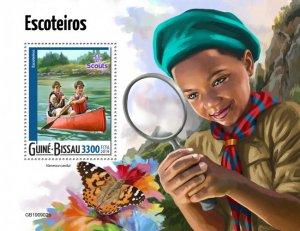 GUINEA BISSAU - 2019 - Scouts - Perf Souv Sheet - M N H