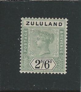 ZULULAND 1894-96 2s6d GREEN & BLACK MM SG 26 CAT £90