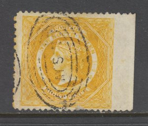 New South Wales SG 218c used. 1880 8p yellow Diadem, natural SE, sound, F-VF