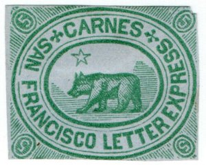 (I.B) US Local Post : Carne's San Francisco Letter Express