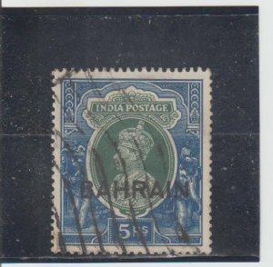 Bahrain  Scott#  34  Used  (1938 Overprinted)