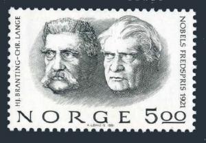 Norway 797,MNH.Michel 849. 1981.Nobel Prize Winners Lange,Branting.