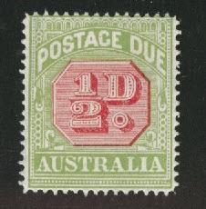 Australia Scott J39c perf 14 postage due 1919 CV$20
