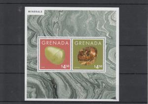 Grenada 2013 MNH Minerals I 2v S/S Jade Jasper Stamps