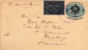 Guatemala 10c Central American Exposition on 5c Posthorn Envelope Overprinted...