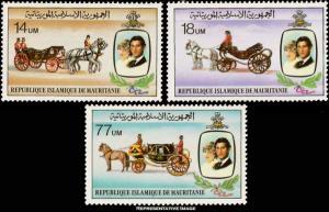 Mauritania Scott 480-482 Mint never hinged.
