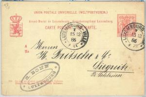 70014 - LUXEMBOURG - POSTAL HISTORY - P48  Stationery Card  1886