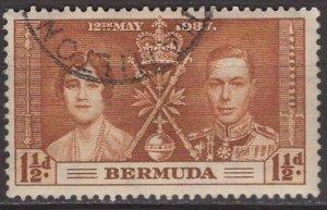 Bermuda; 1937: Sc. # 116: O/Used Single Stamp