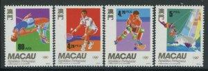 Macao 1992 Summer Olympics set Sc# 674-77 NH