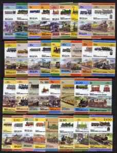 St Vincent Grenadines - Bequia 1-34 MNH Trains