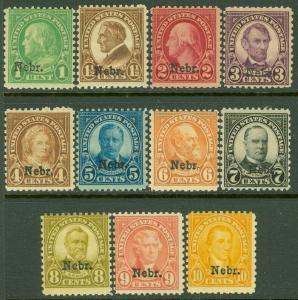 EDW1949SELL : USA 1929 Scott #669-79 Mint Never Hinged. Fresh set. Catalog $530.
