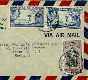 Jamaica Commercial Air Mail Cover {samwells-covers} 1951 CS135