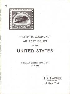 Henry M. Goodkind Air Post Issues, HR Harmer 2023