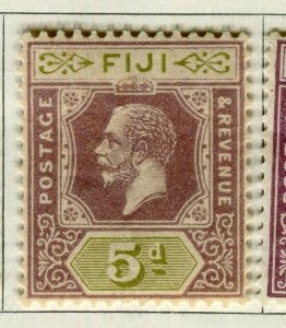 FIJI; 1922-27 early GV issue fine Mint hinged 5d. value