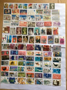 Great Britain x 100 stamps - Lot A