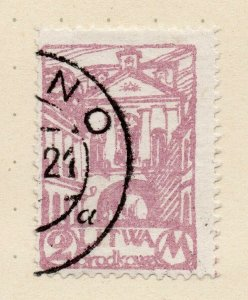 LITHUANIA 1920-22 Early Issue Fine Used 2m. NW-07173