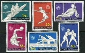 Romania 2629-2634,2635,MNH.Michel 3350-3355,Bl.138. Olympics Montreal 1976.