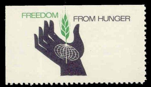 US - Freedom From Hunger Poster Stamp