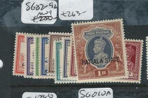 INDIA PATIALA (PP0704B) KGVI SG 82-92  MOG