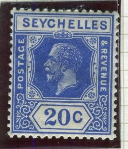 SEYCHELLES; 1922 early GV issue fine Mint hinged Shade of 20c. value