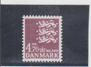 Denmark  Scott#  647  MNH  (1981 State Seal)