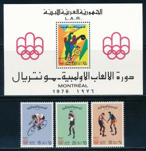 Libya - Montreal Olympic Games MNH Set #618-21 (1976)