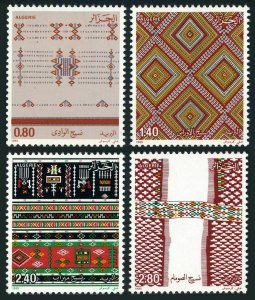 Algeria 797-800,MNH.Michel 873-876. Tapestries 1985.