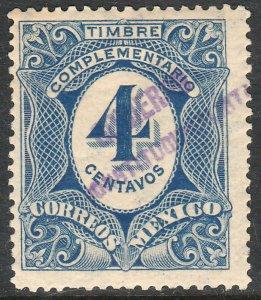 MEXICO-Monterrey 436VAR TII 4¢ GOB. REV PROV OVPT CONSTIT.. UNUSED VF (1261)