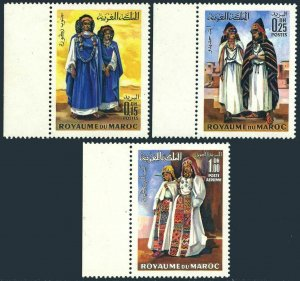 Morocco 220-221,C15,MNH.Michel 645-647. National Costumes,1969.