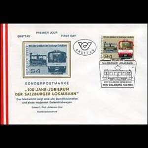 AUSTRIA 1986 - FDC - 1356 Railway Cent.