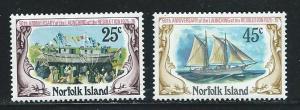 Norfolk Island 192-3 1975 Ship set MNH