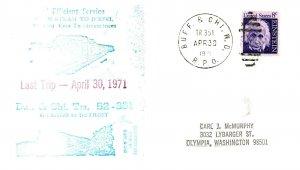 1971 Buff. & Chi. W.C. R.P.O.Railroad + Last Trip Cachet #105