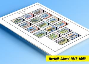 COLOR PRINTED NORFOLK ISLAND 1947-1999 STAMP ALBUM PAGES (79 illustrated pages)