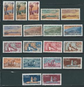 Somali Coast 248-66 Various set MNH