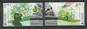 Moldova 2016 CEPT Europa Think Green 2 MNH stamps