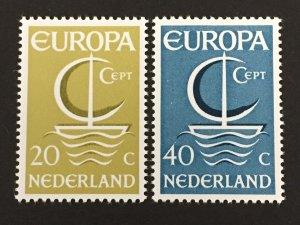 Netherlands 1966 #441-2, Europa, MNH.
